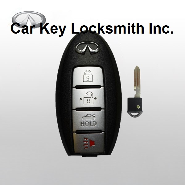 Infiniti M35 M45 2006-2007-2008-2009-2010 Proximity Smart Key 4-Button FCC ID CWTWBU618